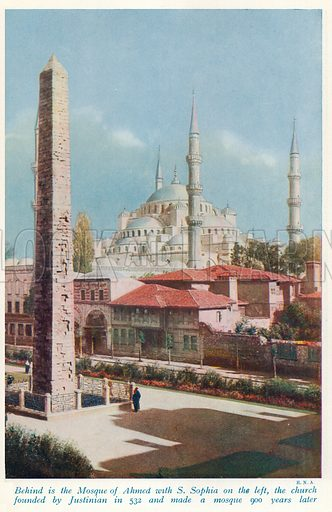 Constantinople. Illustration for Countries of the World by J A Hammerton (Fleetway, c 1925).