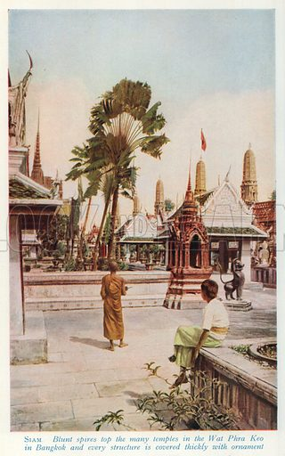 Siam. Illustration for Countries of the World by J A Hammerton (Fleetway, c 1925).