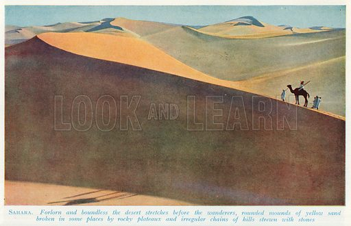 Sahara. Illustration for Countries of the World by J A Hammerton (Fleetway, c 1925).