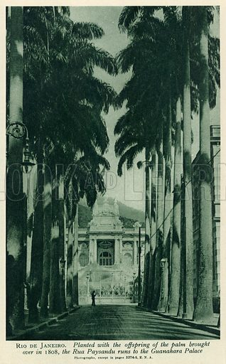 Rio de Janeiro. Illustration for Countries of the World by J A Hammerton (Fleetway, c 1925).