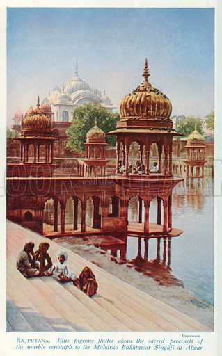 Rajputana. Illustration for Countries of the World by J A Hammerton (Fleetway, c 1925).