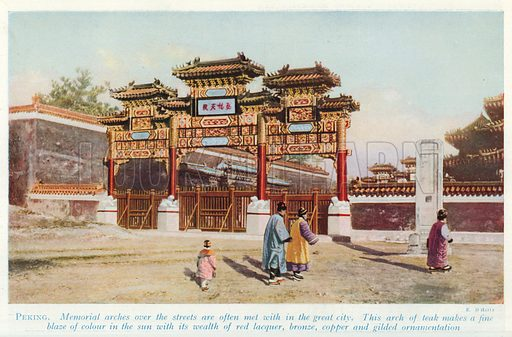 Peking. Illustration for Countries of the World by J A Hammerton (Fleetway, c 1925).