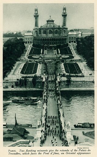 Paris. Illustration for Countries of the World by J A Hammerton (Fleetway, c 1925).