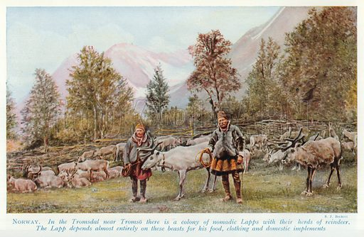 Norway. Illustration for Countries of the World by J A Hammerton (Fleetway, c 1925).