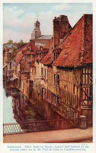 Normandy. Illustration for Countries of the World by J A Hammerton (Fleetway, c 1925).