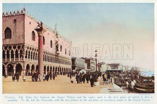 Venice. Illustration for Countries of the World by J A Hammerton (Fleetway, c 1925).