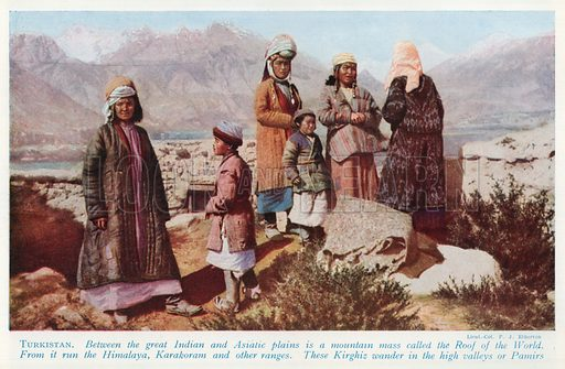 Turkistan. Illustration for Countries of the World by J A Hammerton (Fleetway, c 1925).
