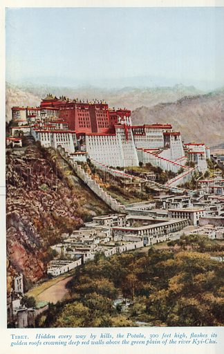 Tibet. Illustration for Countries of the World by J A Hammerton (Fleetway, c 1925).