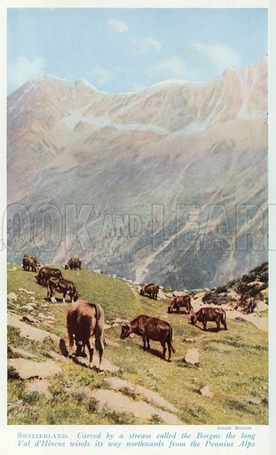 Switzerland. Illustration for Countries of the World by J A Hammerton (Fleetway, c 1925).