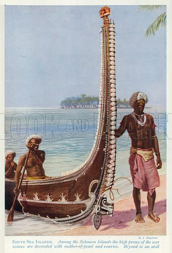 South Sea Islands. Illustration for Countries of the World by J A Hammerton (Fleetway, c 1925).