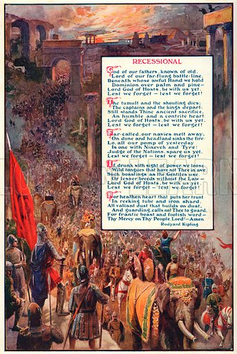 Recessional. Illustration for Harmsworth History of the World (1907).