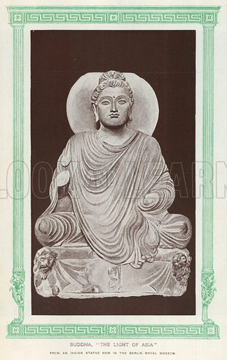 """Buddha, """"The Light of Asia"""". Illustration for Harmsworth History of the World (1907)."""