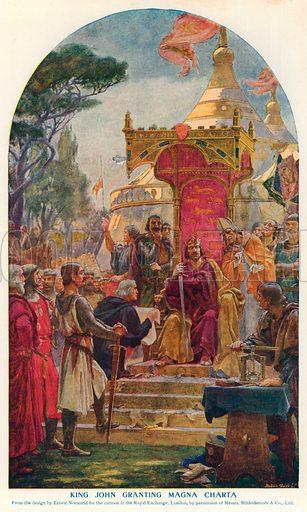 King John Granting Magna Charta. Illustration for Harmsworth History of the World (1907).