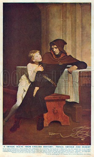 A Tragic Scene from English History: Prince Arthur and Hubert. Illustration for Harmsworth History of the World (1907).