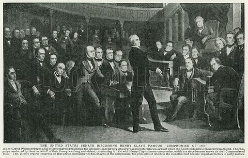 "The United States Senate Discussing Henry Clay's Famous ""Compromise of 1850"". Illustration for Harmsworth History of the World (1907)."