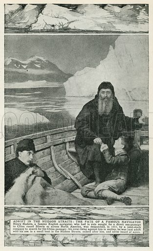 Adrift in the Hudson Straits: The Fate of a Famous Navigator. Illustration for Harmsworth History of the World (1907).