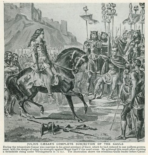 Julius Caesar's Complete Subjection of the Gauls. Illustration for Harmsworth History of the World (1907).