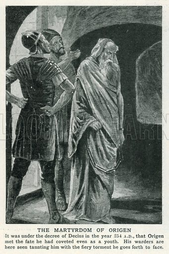 The Martyrdom of Origen. Illustration for Harmsworth History of the World (1907).