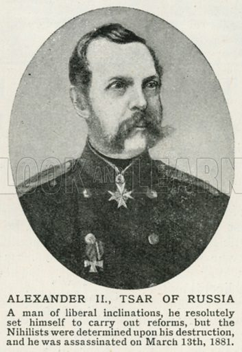 Alexander II, Tsar of Russia. Illustration for Harmsworth History of the World (1907).
