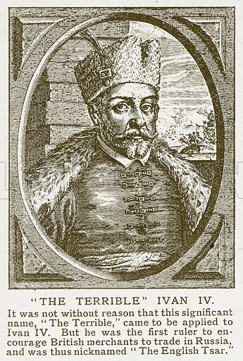 """The Terrible"" Ivan IV. Illustration for Harmsworth History of the World (1907)."