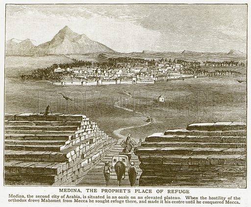 Medina, the Prophet's Place of Refuge. Illustration for Harmsworth History of the World (1907).