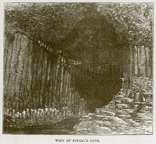 View of Fingal's Cave. Illustration for Picturesque Scotland by Francis Watt and Andrew Carter (Frederick Warne, c 1880).