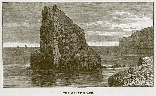 The Great Stack. Illustration for Picturesque Scotland by Francis Watt and Andrew Carter (Frederick Warne, c 1880).