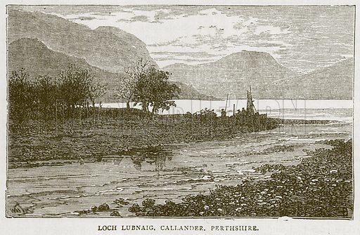 Loch Lubnaig, Callander, Perthshire. Illustration for Picturesque Scotland by Francis Watt and Andrew Carter (Frederick Warne, c 1880).