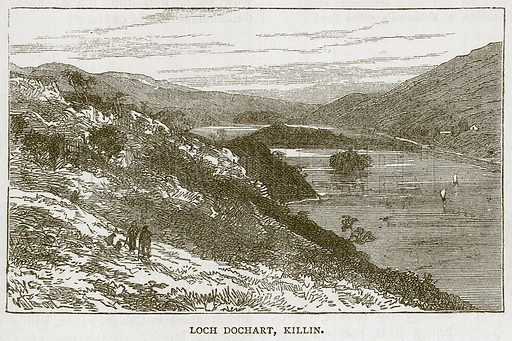 Loch Dochart, Killin. Illustration for Picturesque Scotland by Francis Watt and Andrew Carter (Frederick Warne, c 1880).