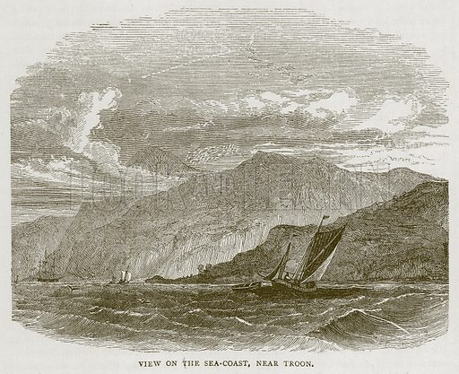View on the Sea-Coast, near Troon. Illustration for Picturesque Scotland by Francis Watt and Andrew Carter (Frederick Warne, c 1880).