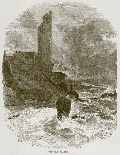 Dunure Castle. Illustration for Picturesque Scotland by Francis Watt and Andrew Carter (Frederick Warne, c 1880).