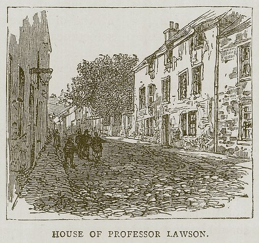 House of Professor Lawson. Illustration for Picturesque Scotland by Francis Watt and Andrew Carter (Frederick Warne, c 1880).