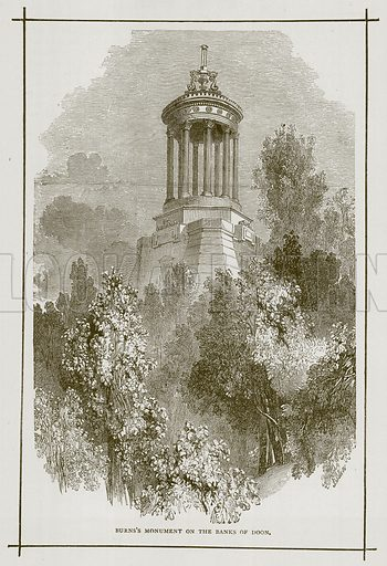 Burns's Monument on the Banks of Doon. Illustration for Picturesque Scotland by Francis Watt and Andrew Carter (Frederick Warne, c 1880).