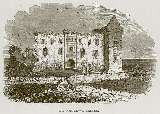St. Andrew's Castle. Illustration for Picturesque Scotland by Francis Watt and Andrew Carter (Frederick Warne, c 1880).