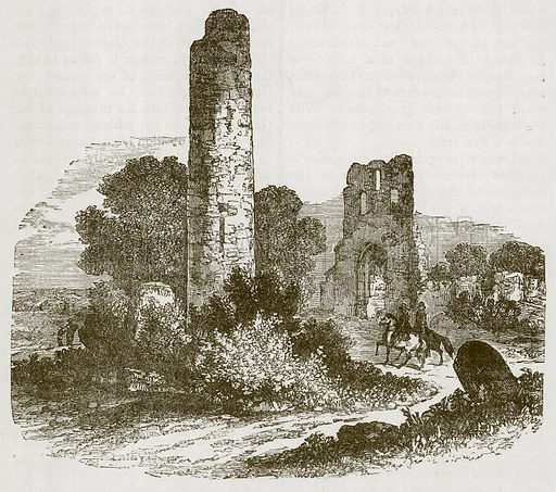 Ruin. Illustration for Picturesque Scotland by Francis Watt and Andrew Carter (Frederick Warne, c 1880).