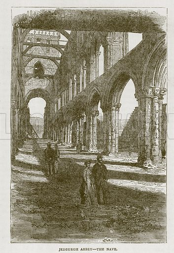 Jedburgh Abbey--The Nave. Illustration for Picturesque Scotland by Francis Watt and Andrew Carter (Frederick Warne, c 1880).