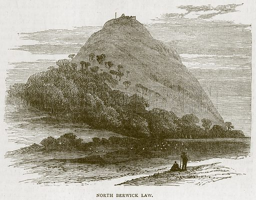 North Berwick Law. Illustration for Picturesque Scotland by Francis Watt and Andrew Carter (Frederick Warne, c 1880).