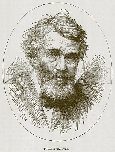 Thomas Carlyle. Illustration for Picturesque Scotland by Francis Watt and Andrew Carter (Frederick Warne, c 1880).