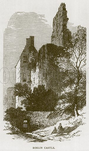 Roslin Castle. Illustration for Picturesque Scotland by Francis Watt and Andrew Carter (Frederick Warne, c 1880).