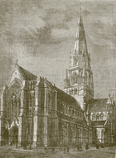St. Mary's Cathedral, Edinburgh. Illustration for Picturesque Scotland by Francis Watt and Andrew Carter (Frederick Warne, c 1880).