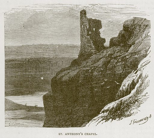 St. Anthony's Chapel. Illustration for Picturesque Scotland by Francis Watt and Andrew Carter (Frederick Warne, c 1880).