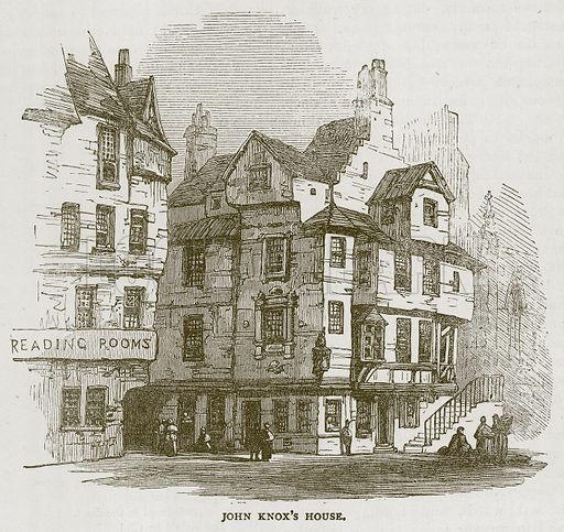 John Knox's House. Illustration for Picturesque Scotland by Francis Watt and Andrew Carter (Frederick Warne, c 1880).