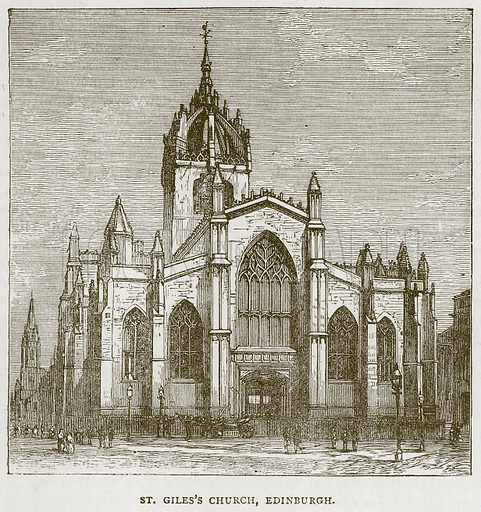 St. Giles's Church, Edinburgh. Illustration for Picturesque Scotland by Francis Watt and Andrew Carter (Frederick Warne, c 1880).