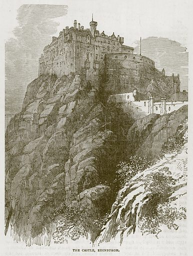 The Castle, Edinburgh. Illustration for Picturesque Scotland by Francis Watt and Andrew Carter (Frederick Warne, c 1880).