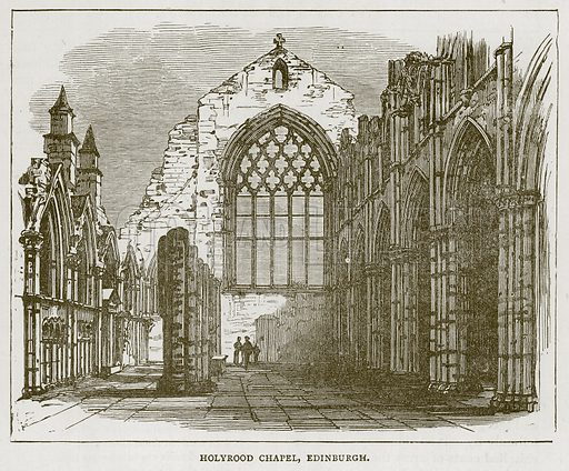 Holyrood Chapel, Edinburgh. Illustration for Picturesque Scotland by Francis Watt and Andrew Carter (Frederick Warne, c 1880).