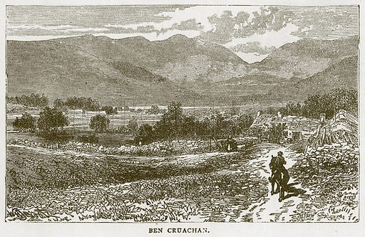 Ben Cruachan. Illustration for Picturesque Scotland by Francis Watt and Andrew Carter (Frederick Warne, c 1880).