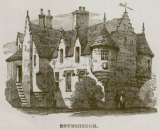 Drumsheugh. Illustration for Picturesque Scotland by Francis Watt and Andrew Carter (Frederick Warne, c 1880).