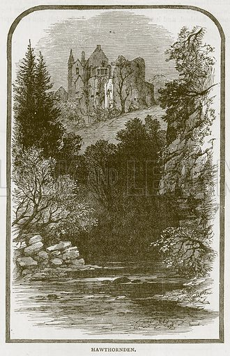 Hawthornden. Illustration for Picturesque Scotland by Francis Watt and Andrew Carter (Frederick Warne, c 1880).