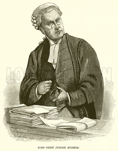 Lord Chief Justice Russell. Illustration for The Life and Times of The Marquis of Salisbury by SH Jeyes (Virtue, c 1895).