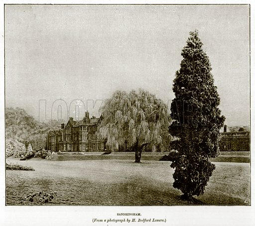 Sandringham. Illustration for The Life and Times of The Marquis of Salisbury by S H Jeyes (Virtue, c 1895).